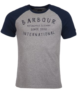 Men's Barbour International Etch Raglan Tee - Anthracite Marl