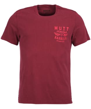 Men's Barbour International Mutt Tee - Biking Red