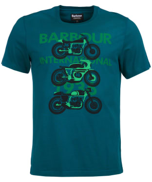 Men's Barbour International Tri Bike Tee - Rich Green