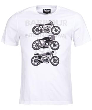 Men's Barbour International Tri Bike Tee - White
