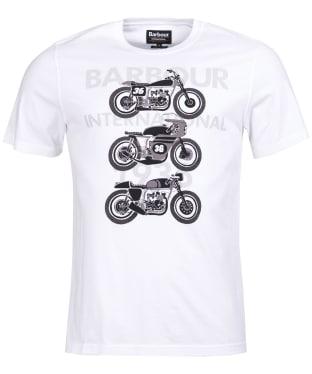 Men's Barbour International Tri Bike Tee - White