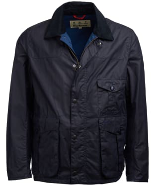 Men's Barbour Dalby Wax Jacket - Royal Navy