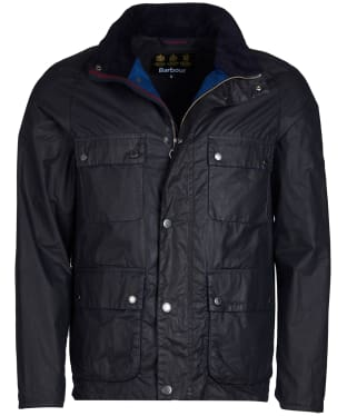 Men's Barbour Toman Waxed Jacket - Royal Navy