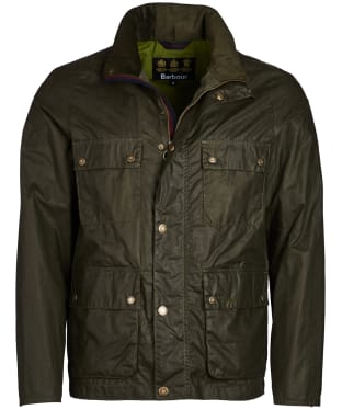 Men's Barbour Toman Waxed Jacket - Archive Olive