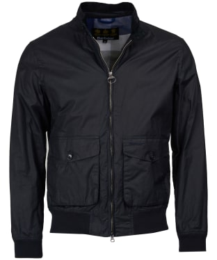 Men's Barbour Erne Waxed Jacket - Royal Navy