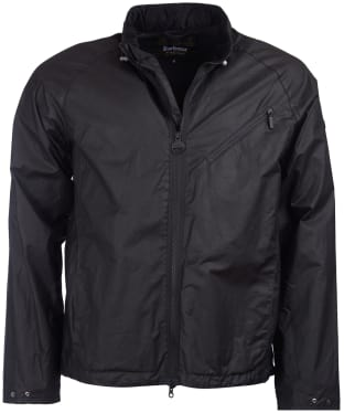 Men's Barbour International Optic Copy Waxed Jacket - Black