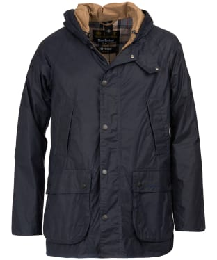 Men's Barbour Lightweight Hooded Bedale Waxed Jacket - Royal Navy