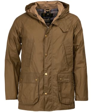 Men's Barbour Lightweight Hooded Bedale Waxed Jacket - Sand