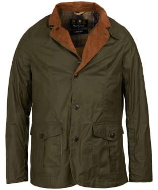 Men's Barbour Lightweight Sander Wax Jacket - Archive Olive