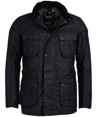 Men's Barbour International Lightweight Lock Seam Waxed Jacket - Black