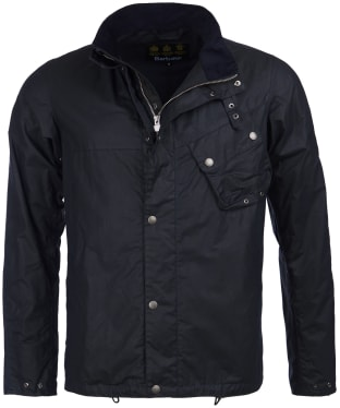 Men's Barbour International Beech Waxed Jacket - Navy