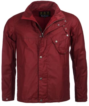 Men's Barbour International Beech Waxed Jacket - Biking Red