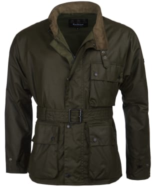 Men's Barbour International Trajan Wax Jacket - Archive Olive