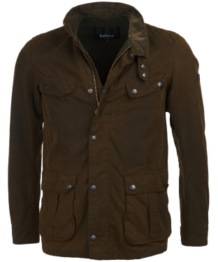 Men's Barbour International Washed Duke Waxed Jacket - Washed Olive