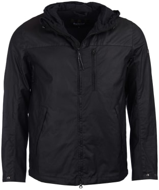 Men's Barbour International Lanark Waxed Jacket - Black