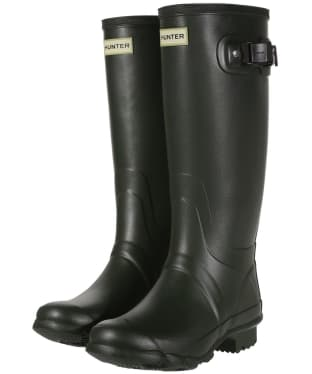 Women's Hunter Field Huntress Wellingtons - Dark Olive