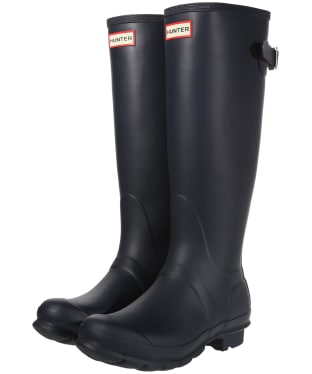 Women's Hunter Original Back Adjustable Wellington Boots - Navy