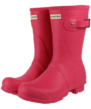 Women's Hunter Original Short Wellington Boots - Bright Pink