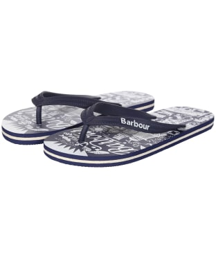 Women's Barbour Seaside Beach Sandals - Navy