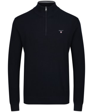 Men's GANT Piqué Half Zip Sweater - Evening Blue