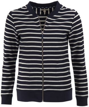 Women's Barbour Seaward Sweater Jacket - Navy / White