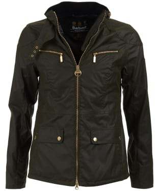 Women's Barbour International Ivy Waxed Jacket - Fern