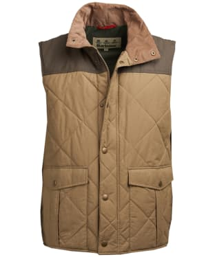 Men's Barbour Harpham Quilted Gilet - Dark Stone