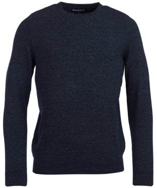 Men's Barbour Linen Mix Crew Sweater - Indigo