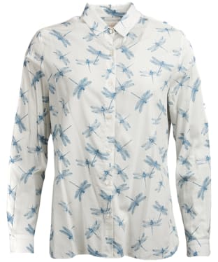 Women's Barbour Bowfell Shirt - White Dragonfly