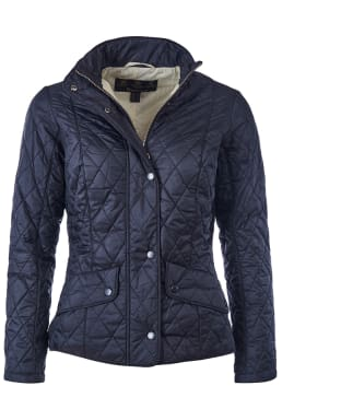 Women's Barbour Flyweight Cavalry Quilted Jacket - Black
