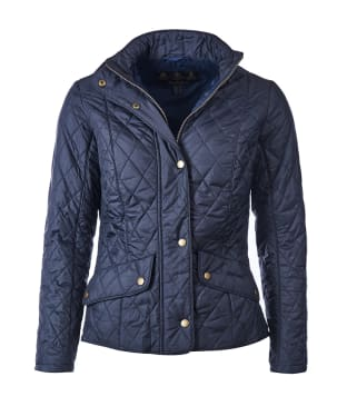 Women's Barbour Flyweight Cavalry Quilted Jacket - Navy