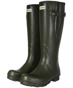 Men's Hunter Field Side Adjustable Neoprene Wellington Boots - Dark Olive
