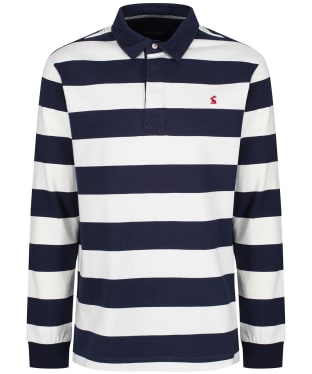 Men's Joules Onside Long Sleeve Rugby Shirt - French Navy Star Stripe