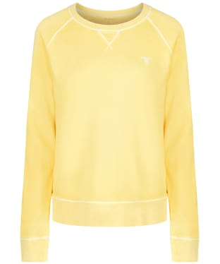 Women's GANT Sunbleached Crew Neck Sweatshirt - Lemon