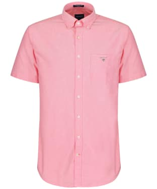 Men's GANT Regular Short Sleeved Oxford Shirt - Watermelon Red