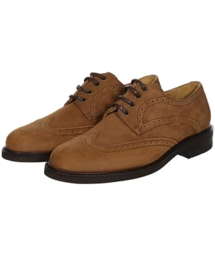 Men's Dubarry Derry Derby Brogue Shoes - Brown