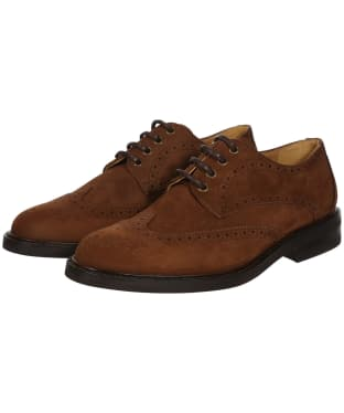 Men's Dubarry Derry Derby Brogue Shoes - Walnut