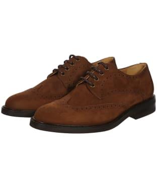 Men's Dubarry Derry Derby Brogue Shoes - Walnut