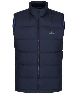 Men's GANT Panel Down Vest - Evening Blue