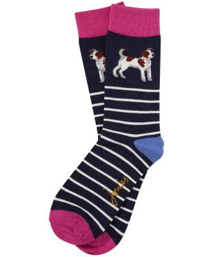 Women's Joules Brilliant Bamboo Socks - Navy Terrier