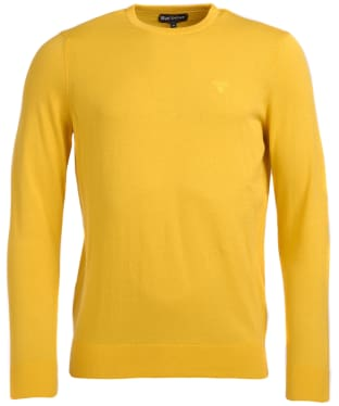 Men's Barbour Light Cotton Crew Neck Sweater - Empire Yellow