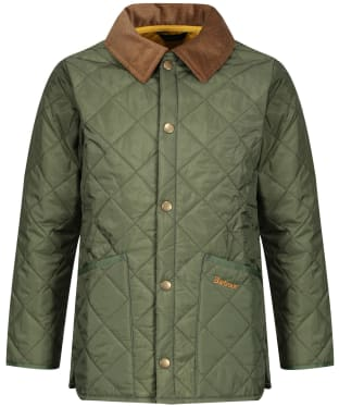 Boy's Barbour Liddesdale Quilted Jacket, 2-9yrs - Moss