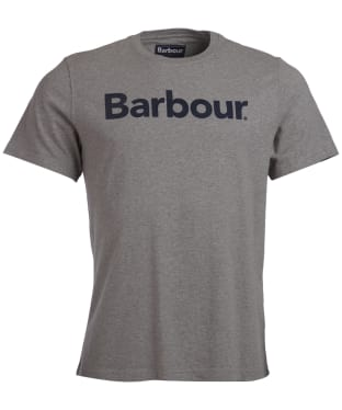 Men's Barbour Logo Tee - Grey Marl