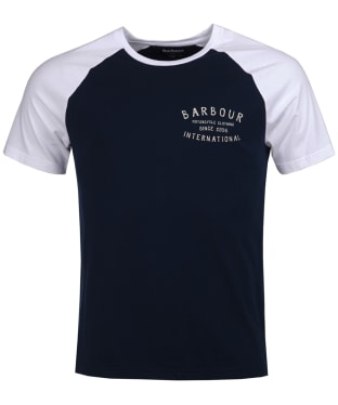 Men's Barbour International Etch Raglan Tee - Navy