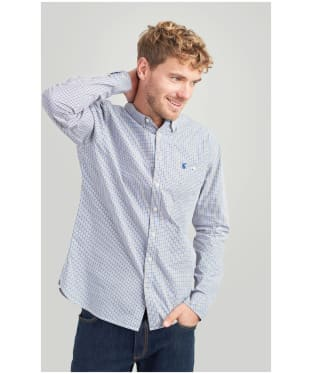 Men's Joules Hewney Shirt - Brown / Blue Gingham