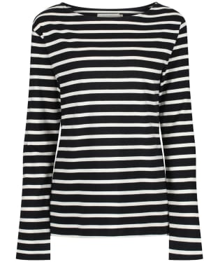 Women's Seasalt Sailor Shirt - Breton Black Ecru