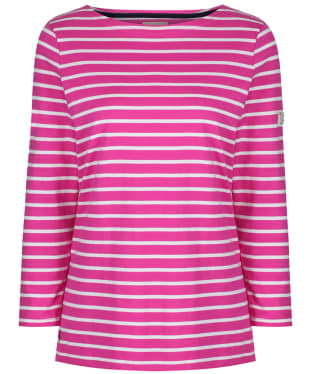 Women's Joules Harbour Top - Pink / Cream Stripe