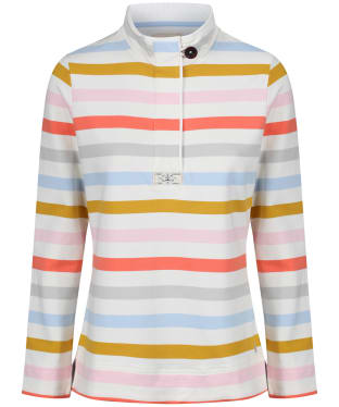 Women's Joules Saunton Funnel Neck Sweatshirt - Multi Stripe