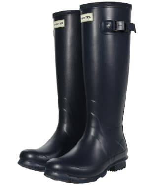Women's Hunter Norris Field Neoprene Wellington Boots - Navy