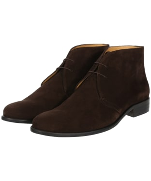 Men's Fairfax & Favor Suede Desert Boots - Chocolate Suede